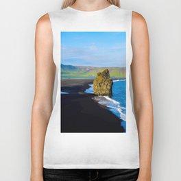 reynisfjara beach Biker Tank