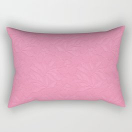 Girly trendy fuschia pink elegant floral french lace Rectangular Pillow