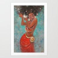 Sun & Stars Art Print