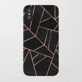 Velvet Black & Rose Gold iPhone Case
