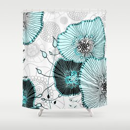MYSTIC GARDEN MINT Shower Curtain