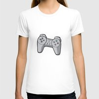 playstation T-shirts featuring Playstation controller by Matt Ellero