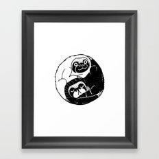 The Tao of Sloths Framed Art Print