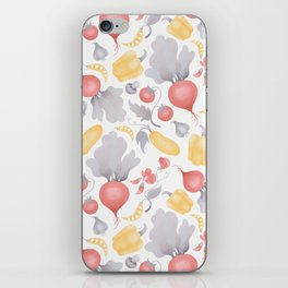 Vegetables (pastel) iPhone Skin