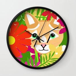 Rousseau's Cat Wall Clock