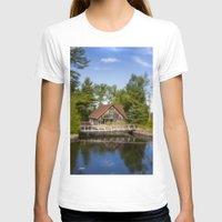 michigan T-shirts featuring Michigan Cottage by davehare