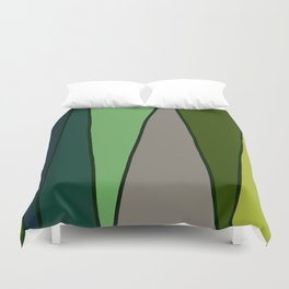 Green Abstract Pattern Turtle Duvet Cover