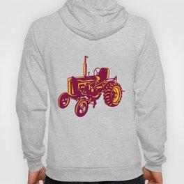 Vintage Farm Tractor Woodcut Hoody