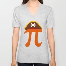 Pi Pirate Crossbone Science Geek Algebra Sign Symbol Unisex V-Neck