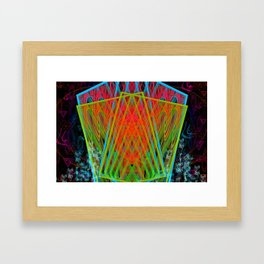 A Psychedelic Hand of Cards Framed Art Print