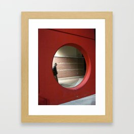 Ghost In The Circle Framed Art Print