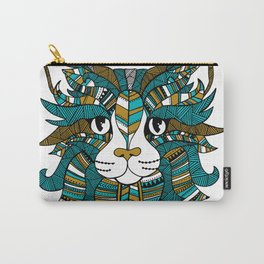 Tribal Cat Illustration Carry-All Pouch