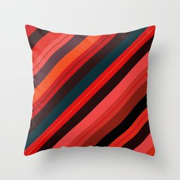 The Burning Rainbow Bridge 88 Throw Pillow