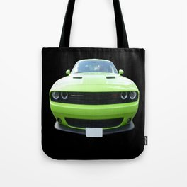 Green Dodge Challenger Tote Bag