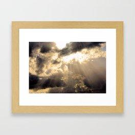 Sun Rays Framed Art Print