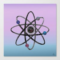physics Canvas Prints featuring Physics by IvanaW