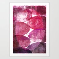 beth hoeckel Art Prints featuring Beth pink by FYLLAYTA, surface design,Tina Olsson
