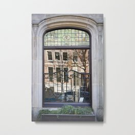 Windows on the Window - Canal Reflections Metal Print