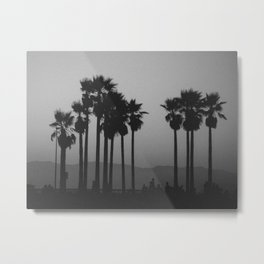 palms against the mountain Metal Print