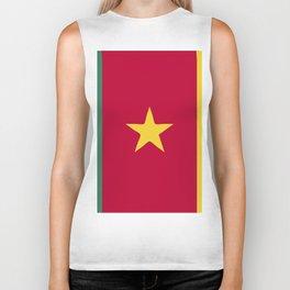 Cameroon flag emblem Biker Tank