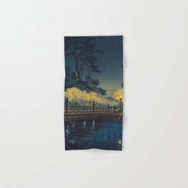Tsuchiya Koitsu Benkei Bridge Vintage Japanese Woodblock Print Hand & Bath Towel