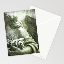 Angelic Cherub Looks Over The Headstones Stationery Cards