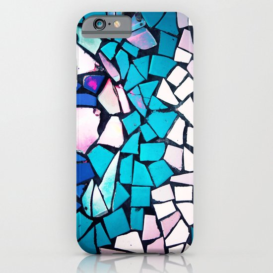 Turquoise and blue mosaic-(photograph) iPhone & iPod Case