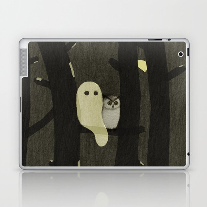 Little Ghost & Owl Laptop & iPad Skin