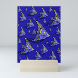 Angelfish Blue Mini Art Print