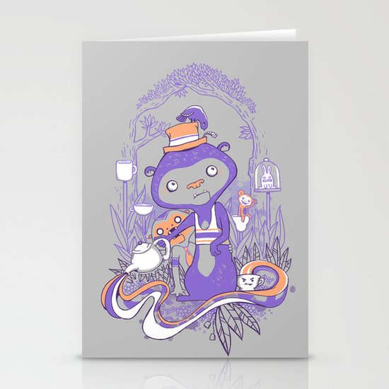 Tea Monkey Tea Party Stationery Cards