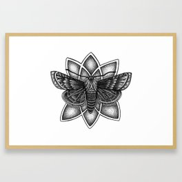 Moth Mandala Framed Art Print