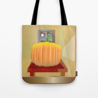 pumpkin Tote Bags featuring Pumpkin by smoothimages