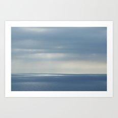 barcelona's sea Art Print