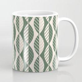 Mod Leaves in Olive and Cream Coffee Mug