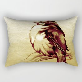 Sparrow in the Cold Rectangular Pillow