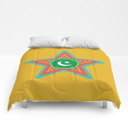 Star In Truck Art Style Comforters