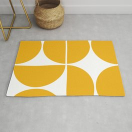 Mid Century Modern Yellow Square Rug