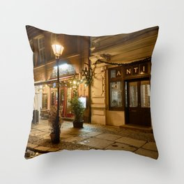 lonely lantern in Berlin Throw Pillow