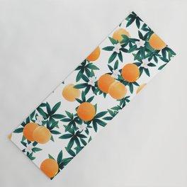 Orange Twist Flower Vibes #2 #tropical #fruit #decor #art #society6 Yoga Mat