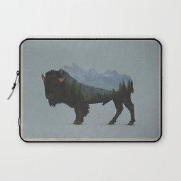 Wyoming Bison Flag Laptop Sleeve