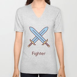 Cute Dungeons and Dragons Fighter class Unisex V-Neck