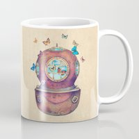 french Mugs featuring Inner Space by Terry Fan