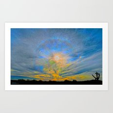 Sun Dogs and Desert Visions II Art Print