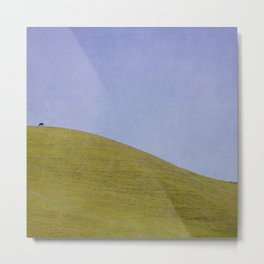Cow on the Hill Metal Print