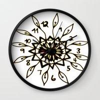 clockwork Wall Clocks featuring Clockwork by Isa Gutierrez