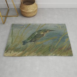 Kingfisher by the Waterside Rug
