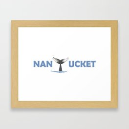 Nantucket (whale tail) Framed Art Print