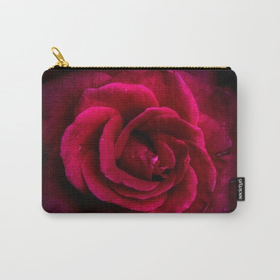 Texture Of A Rose Carry-All Pouch