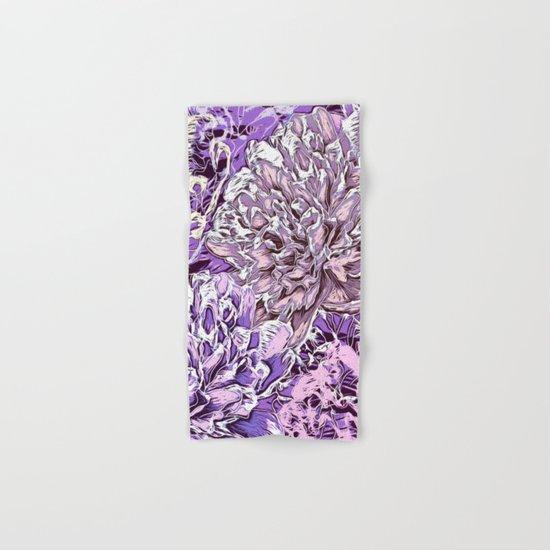 Flowers - blue mood Hand & Bath Towel
