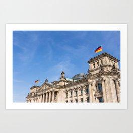 Reichstag building Berlin Art Print